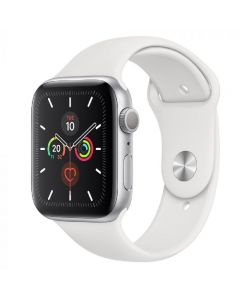 Apple Watch Series 5 (44)mm  Silver Aluminum Case with Sport Band