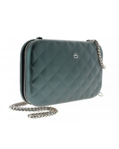 Ogon Quilted Clutch - Platinum