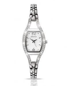 Sekonda Ladies Silver Semi-Bangle White Face Watch