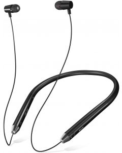 SoundLogic Voice Assistant Wireless Neckband Bluetooth Headset with Mic- Black