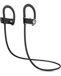 SoundLogic Voice Assistant Wireless Sport Earbuds Bluetooth Headset with Mic- Black