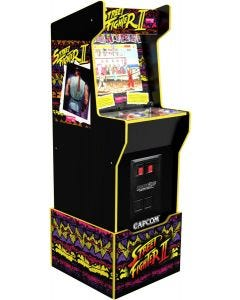 Arcade1Up Capcom Legacy with Lit Marquee and Riser bundle