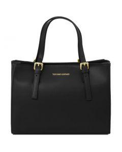 Tuscany Leather Aura Ruga Leather Bag  - Black
