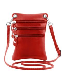 Tuscany Leather TL Bag - Soft leather mini cross bag - Red