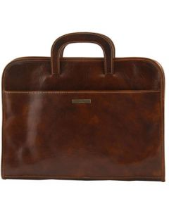 Tuscany Leather Sorrento Men's Leather Briefcase  - Brown