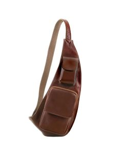 Tuscany Leather Leather crossover bag - Brown