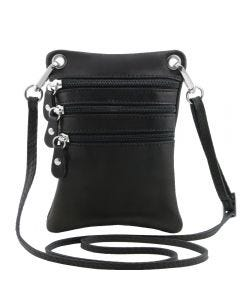 Tuscany Leather TL Bag - Soft leather mini cross bag - Black