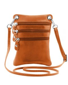 Tuscany Leather TL Bag - Soft leather mini cross bag - Cognac