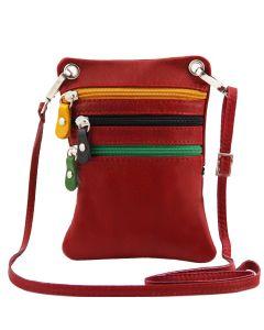 Tuscany Leather Mini Cross Bag - Red